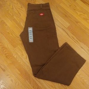 NWT Dickie's Men's Relaxed Fit Brown Pants